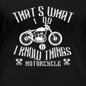 Motorcycle - that's what I do - Women's Organic Longsleeve