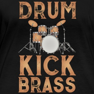 Drum design brown - Women's Organic Longsleeve
