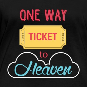 One Way Ticket to Heaven - Vrouwen biologisch shirt met lange mouwen
