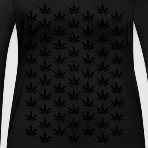 Hemp Leaf Black 005 AllroundDesigns - Women's Organic Longsleeve