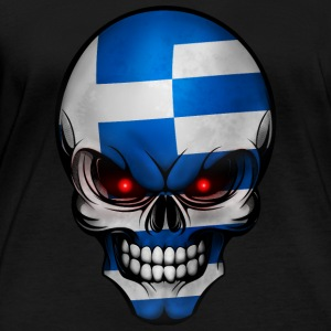 Skull Hellas Allround design - Langarmet øko-T-skjorte for kvinner