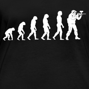 Evolution Paintball - Paintball T-Shirt - Frauen Bio-Langarmshirt