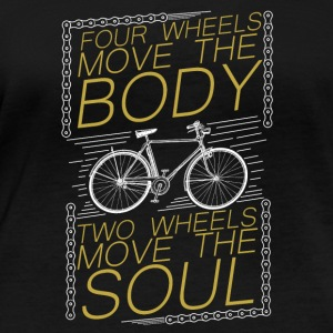 Bike - Four Wheels move body,two wheels move soul - Women's Organic Longsleeve