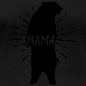 Mama Bear Mothers Day - Mother 's Day - Women's Organic Longsleeve