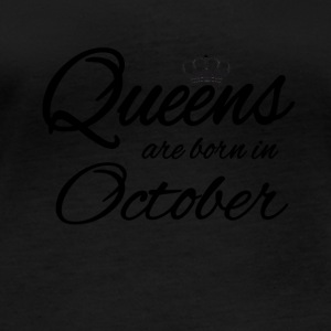 Queens Born October Princess Birthday Birthday - Women's Organic Longsleeve