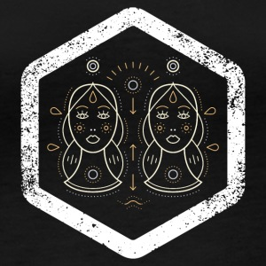 Hexagon · Zodiac Signs · Gemini · Twins - Women's Organic Longsleeve