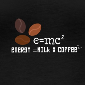E = MC2 energy milk coffee T-shirt - Women's Organic Longsleeve
