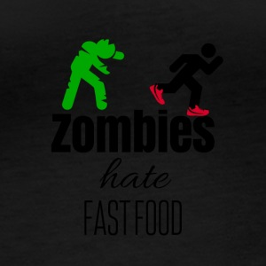 Zombies hate when their food run - Women's Organic Longsleeve