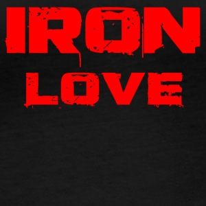 iron love red - Frauen Bio-Langarmshirt