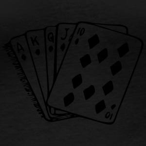 Royal flush - Langærmet øko-dame-T-shirt