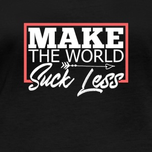 Make the world Suck less - Women's Organic Longsleeve