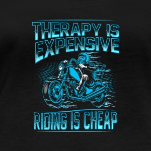 Therapy is expensive riding is cheap - Women's Organic Longsleeve