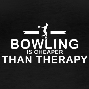Bowling is cheaper than therapy - Women's Organic Longsleeve
