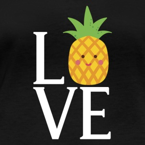 LOVE - Pineapple - Women's Organic Longsleeve