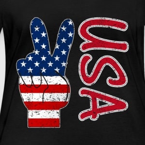 Peace USA flag - Women's Organic Longsleeve