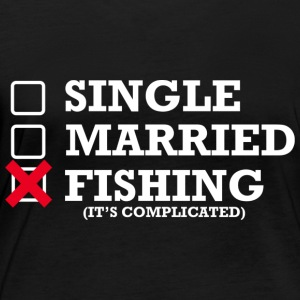 Single, Married, Fishing - Frauen Bio-Langarmshirt