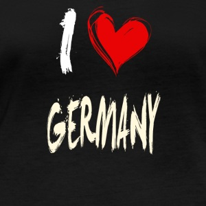 I love germany - Frauen Bio-Langarmshirt
