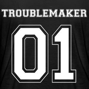 TROUBLEMAKER 01 - White Edition - Frauen Bio-Langarmshirt