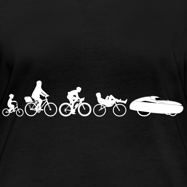Bicycle evolution white