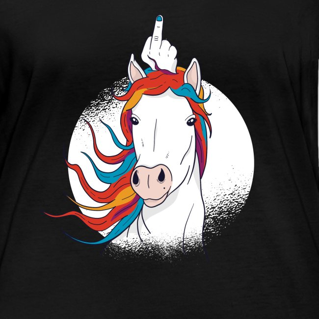 Cartoon Einhorn Mittelfinger Design