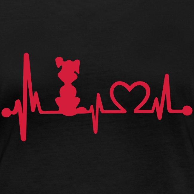 Vorschau: dog heart beat - Frauen Bio-Langarmshirt von Stanley & Stella