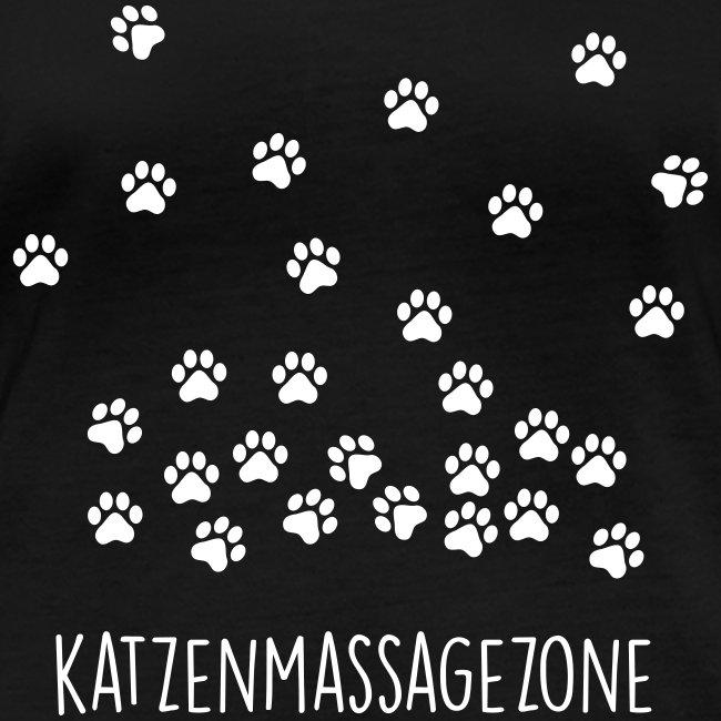 Vorschau: Katzen Massage Zone - Frauen Bio-Langarmshirt von Stanley & Stella