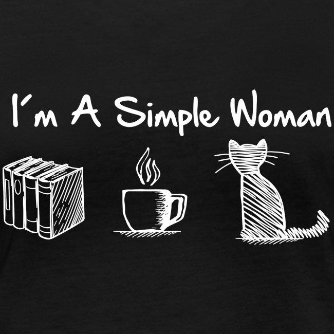 Vorschau: simple woman cat books - Frauen Bio-Langarmshirt von Stanley & Stella