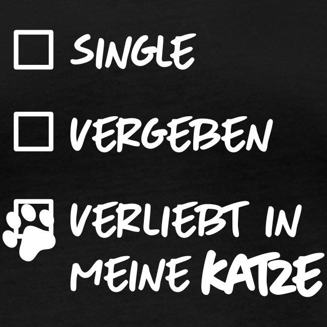 Vorschau: single verliebt katze - Frauen Bio-Langarmshirt von Stanley & Stella