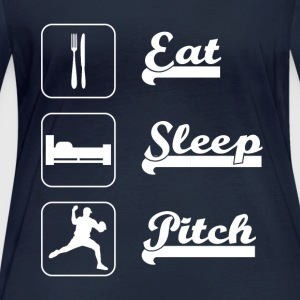 Eat sleep pitch Baseball - Women's Organic Longsleeve