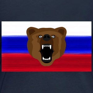 Ours russe / Russie / Россия, Rossia, drapeau - T-shirt manches longues bio Femme
