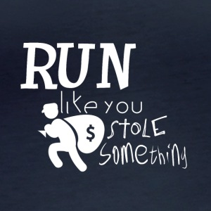 Run! I want to steal something for you - criminally - Women's Organic Longsleeve