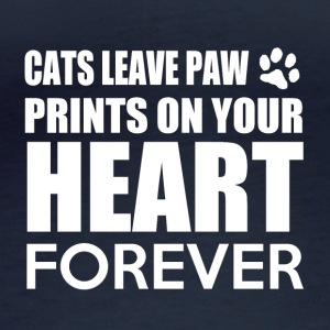 Cats leave paw prints on your heart forever - Women's Organic Longsleeve