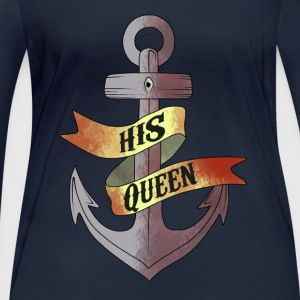 His Queen - Frauen Bio-Langarmshirt