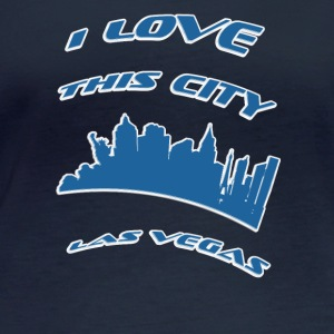 Las vegas I love this city - Women's Organic Longsleeve