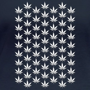 Hemp Leaf White 007 AllroundDesigns - Women's Organic Longsleeve