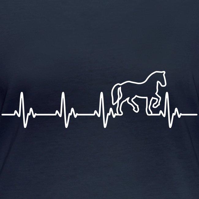 Vorschau: Horse Heartbeat - Frauen Bio-Langarmshirt von Stanley & Stella