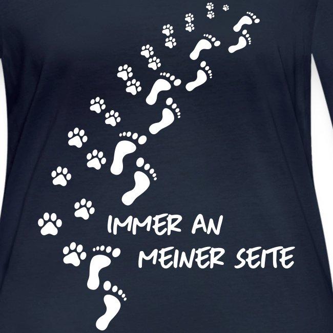 Vorschau: Immer an meiner Seite - Mein Hund und Ich - Frauen Bio-Langarmshirt von Stanley & Stella
