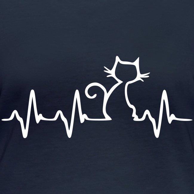 Vorschau: Cat Heartbeat - Frauen Bio-Langarmshirt von Stanley & Stella