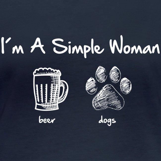 Vorschau: simple woman beer white - Frauen Bio-Langarmshirt von Stanley & Stella