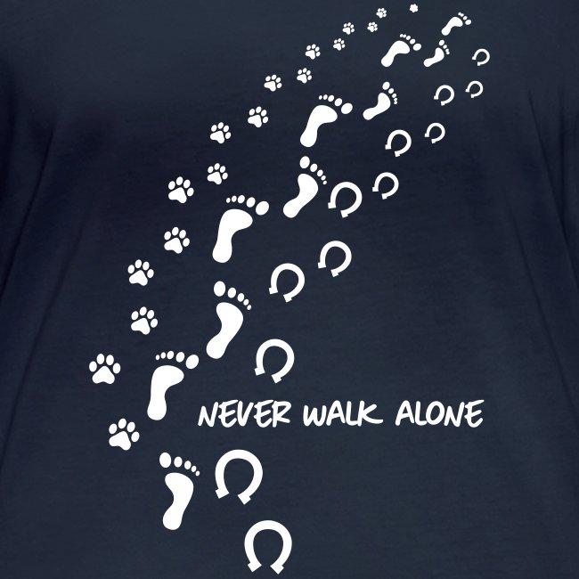 Vorschau: never walk alone hund pferd - Frauen Bio-Langarmshirt von Stanley & Stella