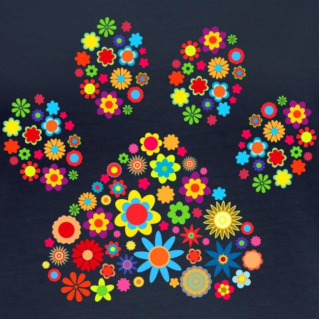 Vorschau: flower dog paw cat - Frauen Bio-Langarmshirt von Stanley & Stella