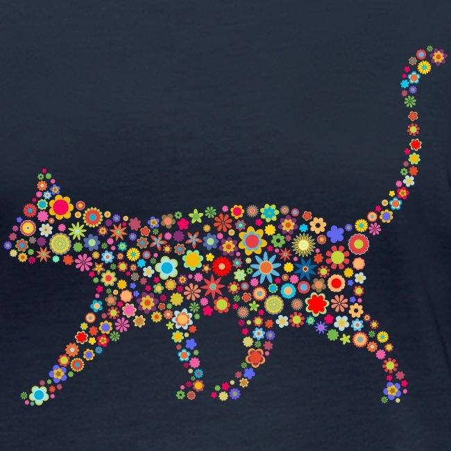 Vorschau: flower cat - Frauen Bio-Langarmshirt von Stanley & Stella
