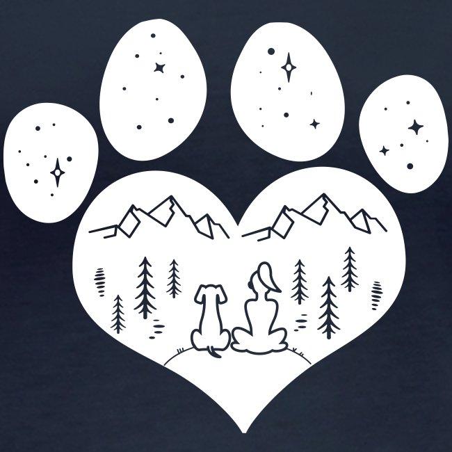 Vorschau: dog girl outdoor pawheart - Frauen Bio-Langarmshirt von Stanley & Stella