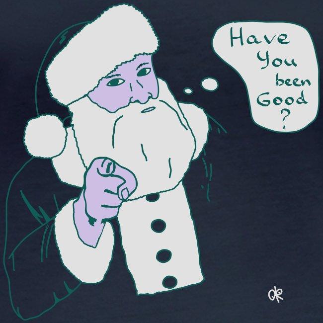 T-shirt/ Santa's question / Weihnachtsmann's Frage