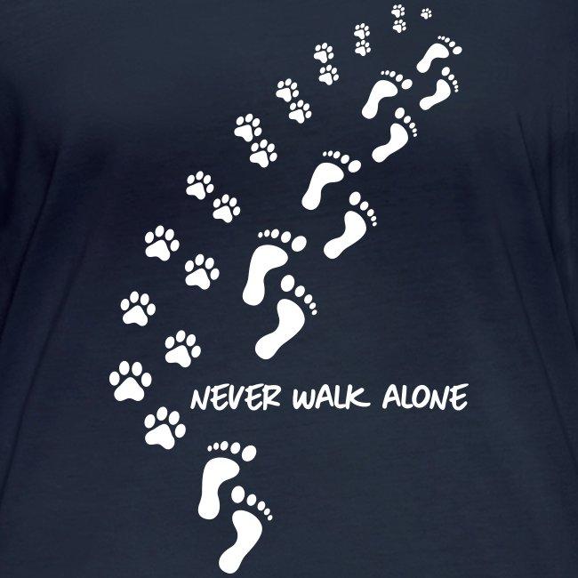 Vorschau: never walk alone dog - Frauen Bio-Langarmshirt von Stanley & Stella