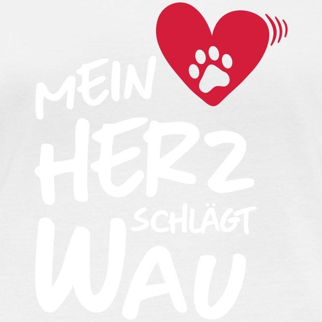 Vorschau: Mein Herz schlägt Wau - Frauen Bio-Langarmshirt von Stanley & Stella
