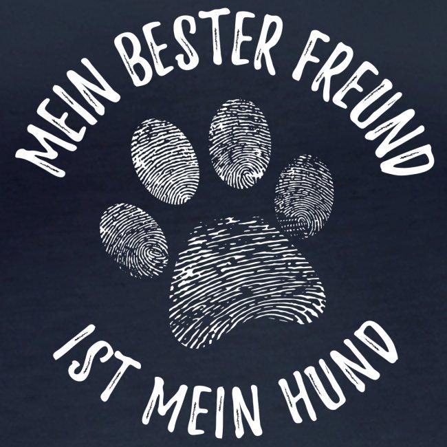 Vorschau: Mein Hund Bester Feund - Frauen Bio-Langarmshirt von Stanley & Stella