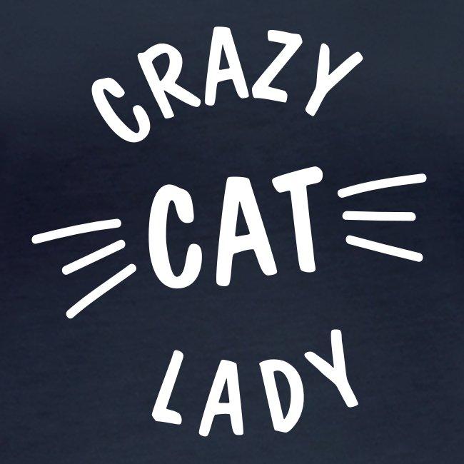 Vorschau: Crazy Cat Lady meow - Frauen Bio-Langarmshirt von Stanley & Stella