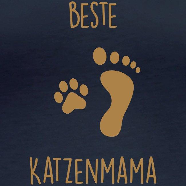 Vorschau: Beste Katzenmama - Frauen Bio-Langarmshirt von Stanley & Stella