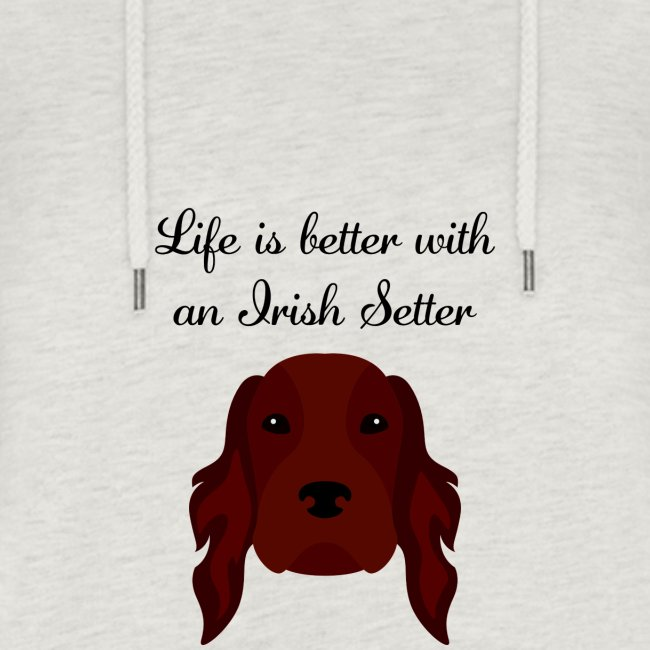 life is better with an irish setter